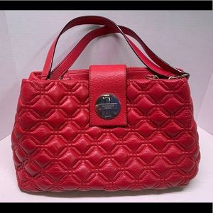 Kate Spade QUILTED Red Astor Court Elena Purse
